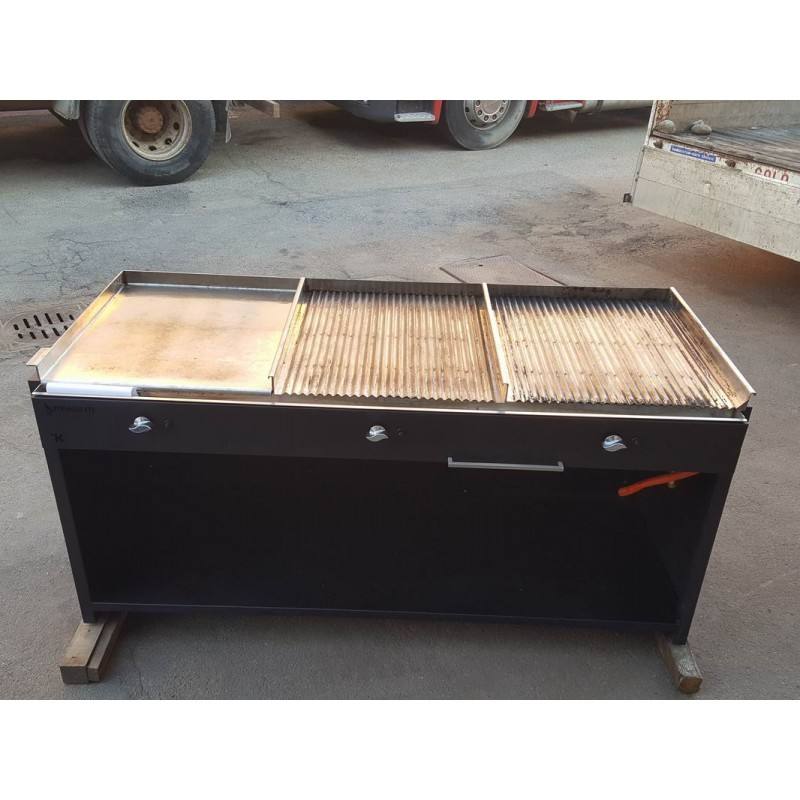 Fry top barbecue 1 gas