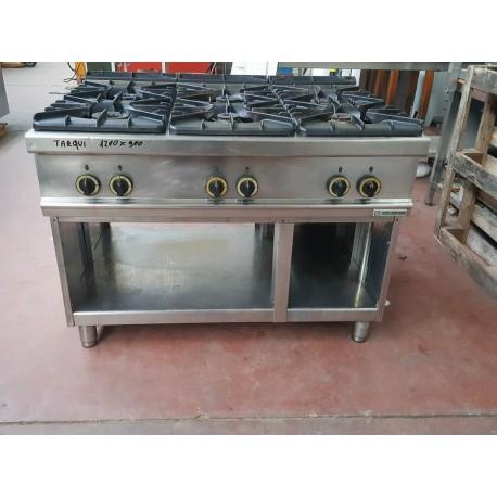 Cucina a gas 6 fuochi usata 1