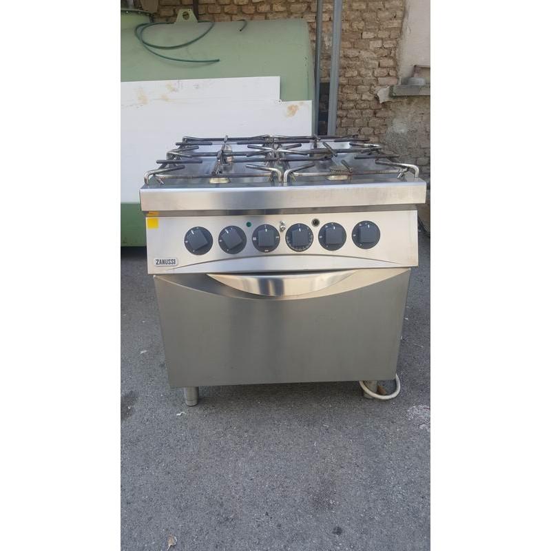 Cucina agas 4 fuochi con forno elettrico usata1