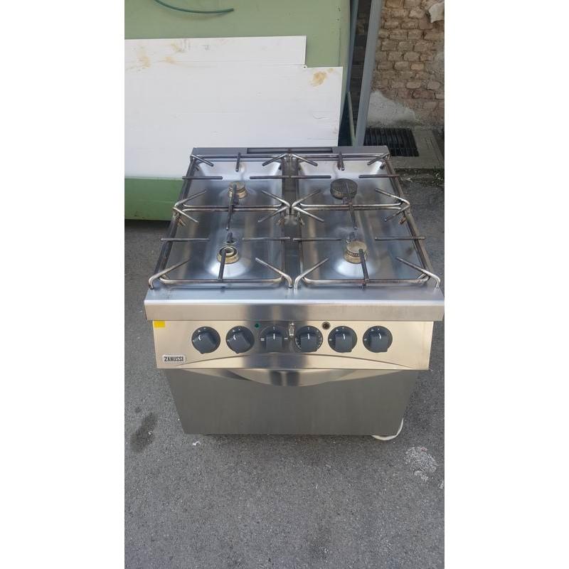 Cucina agas 4 fuochi con forno elettrico usata2